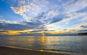 Hoàng hôn biển Nhật Lệ